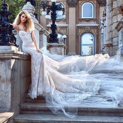 2017 Luxury Full Beaded Lace Wedding Dress Mermaid Lace