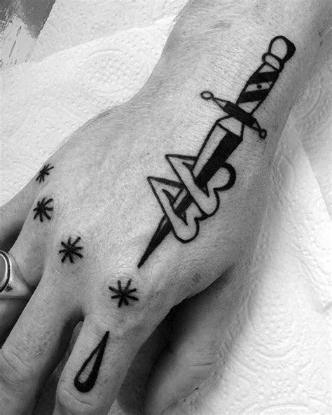 simple tattoo boy hand tattoo
