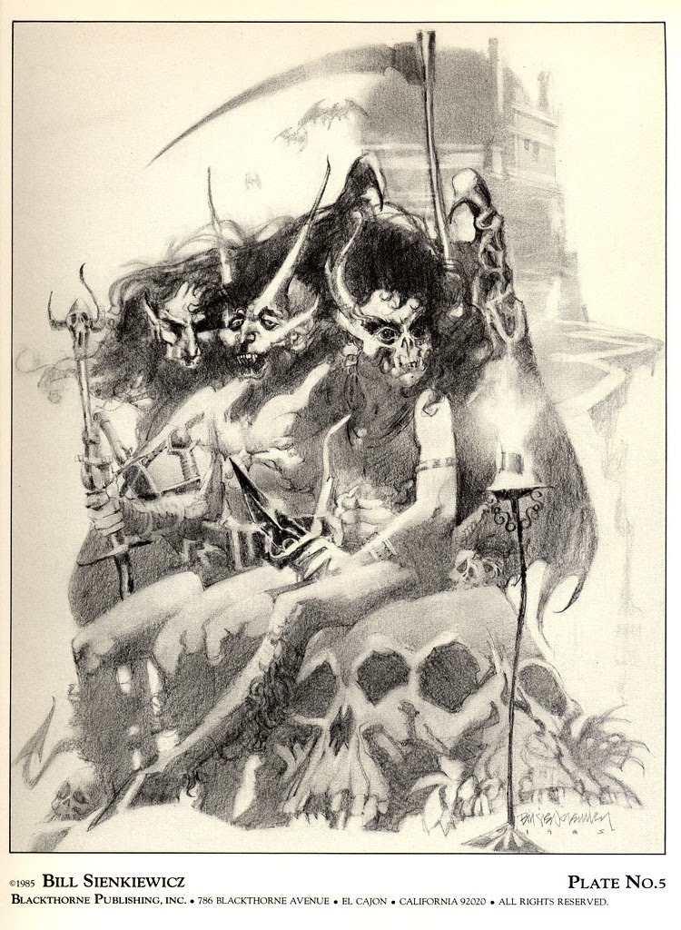Bill Sienkiewicz - Vampyres 2 (Blackthorne Publishing, Inc 1985) Plate 5