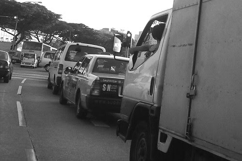 Trapped in a traffic jam