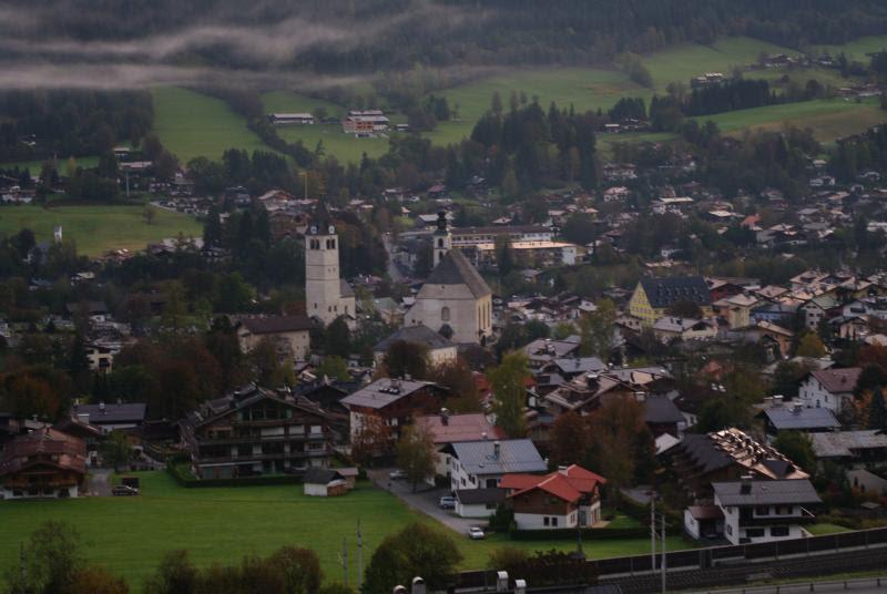 The town of Kitzbuhel, Austria