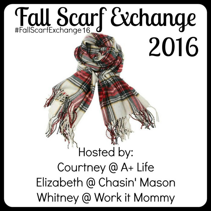2016 Scarf exchange with Chasin' Mason, Work it Mommy, and A+ Life