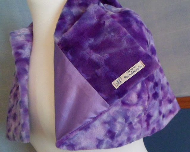 Pretty Purple Hooded Capelet
