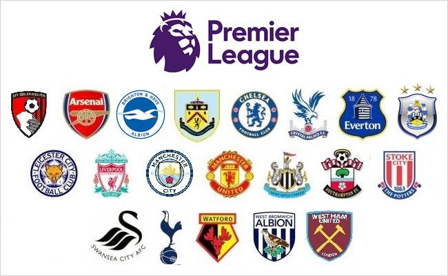Image result for premier league clubs 2017/18