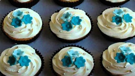 Cupcake Ideas: flower wedding cupcake ideas   YouTube