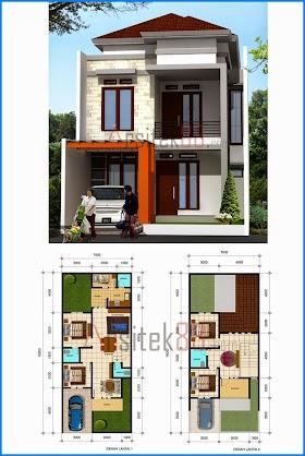 Sketsa Rumah Lantai 2