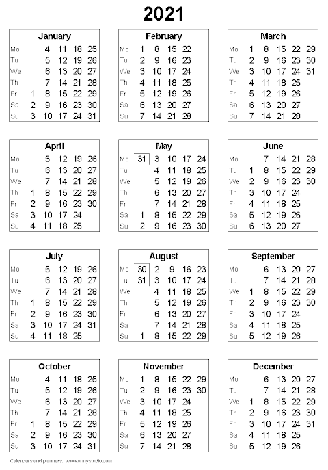 2020 Calendar Uk Printable A4