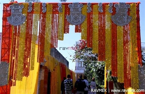 Marigold Flowers, Entry gate   Indian Wedding Decor