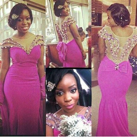 African Evening Dresses 2017 Latest Designs Beaded Sheer
