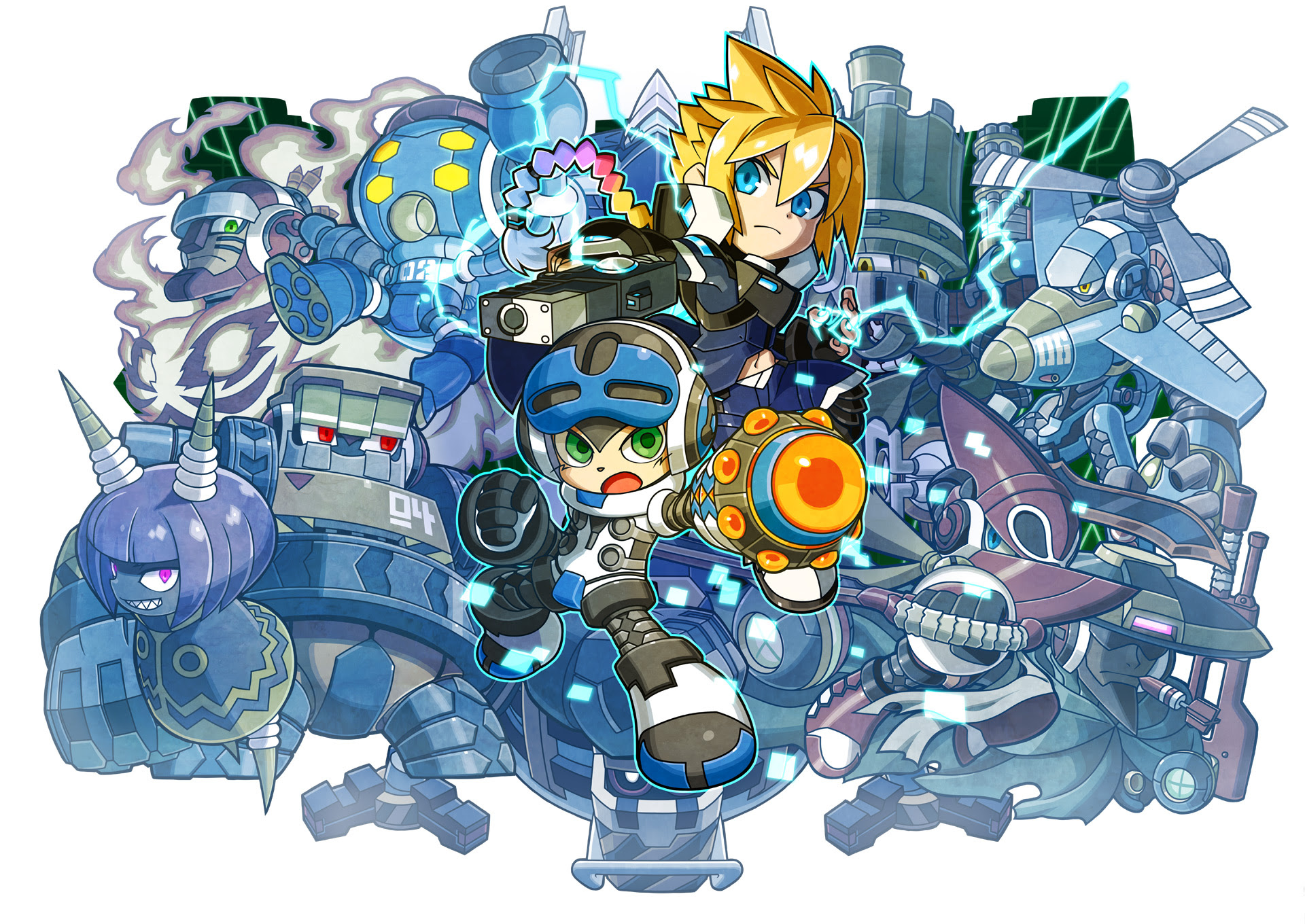 Mighty Gunvolt Burst looks streets ahead of the original screenshot