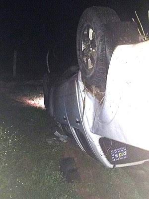 Condutor da caminhonete fugiu do local do acidente (Foto: Divulgação/PRF-MA)