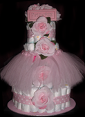 Princess Tutu Diaper Cake