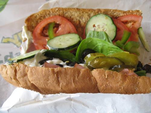 Subway ham and cheese