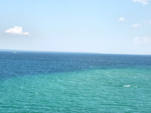 Lake Huron (from the bridge) - Mackinaw City/St. Ignace, Michigan 2010