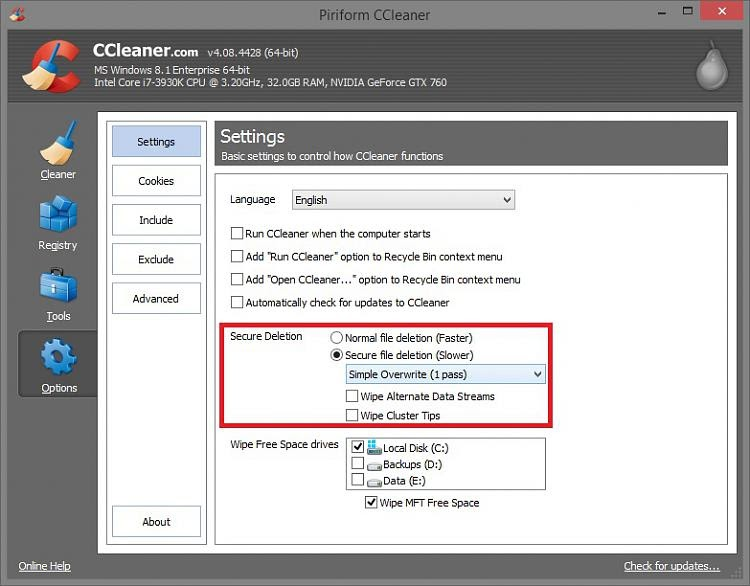 What is ccleaner wipe free space - There, ccleaner 64 bit ...