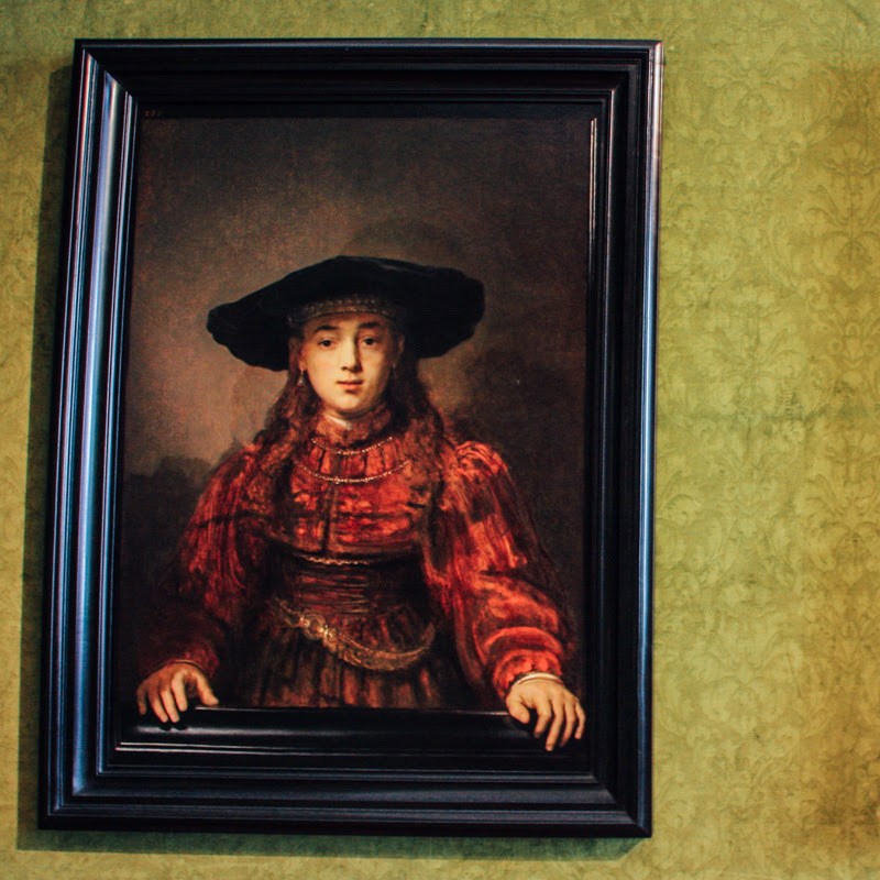The Girl In A Picture Frame 1641 Rembrandt Harmenszoon Van Rijn