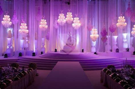 Arabic wedding stage design and lighting.   Kosha