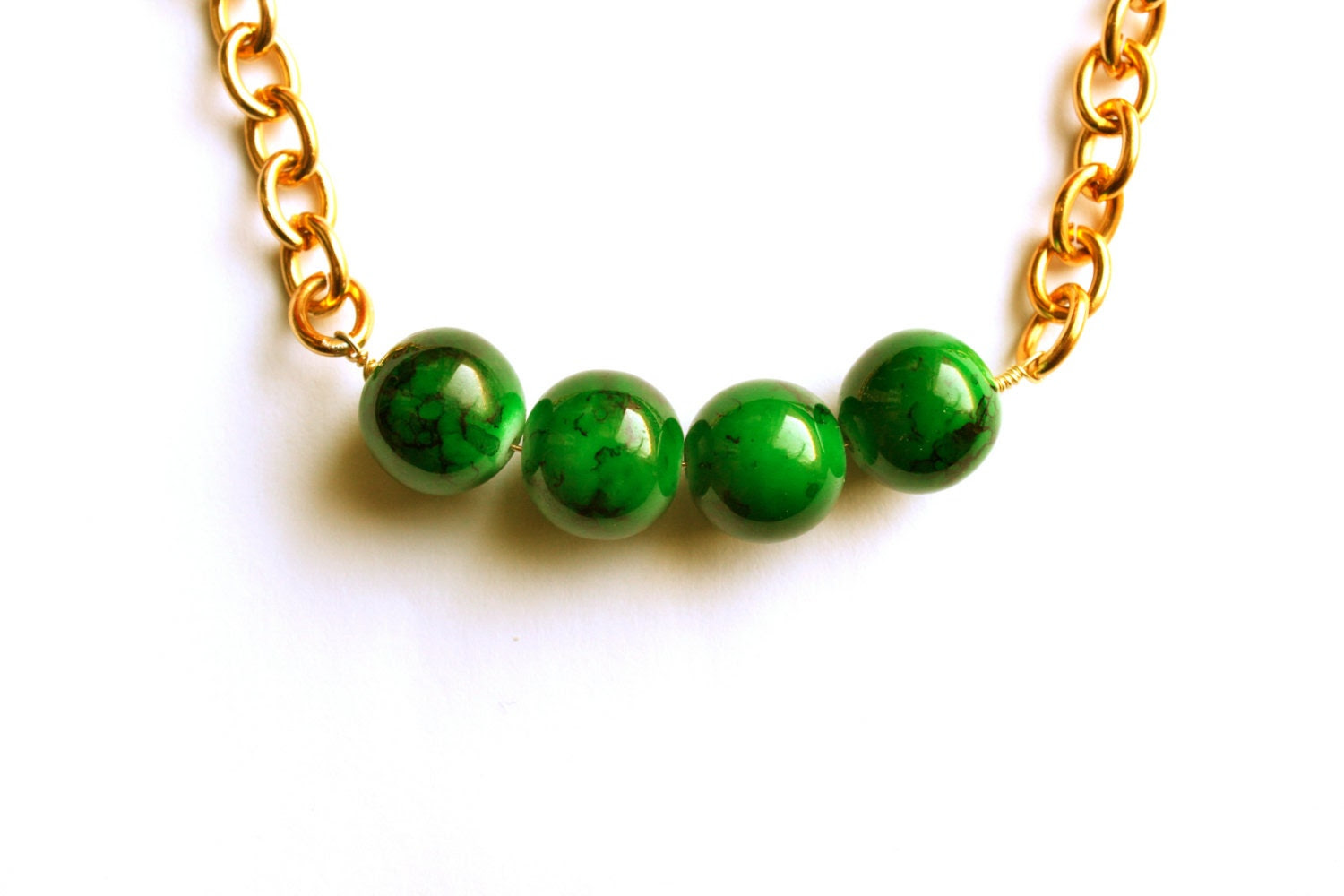 Jade Statement Necklace. Emerald Green Necklace. Kelly Green Necklace.