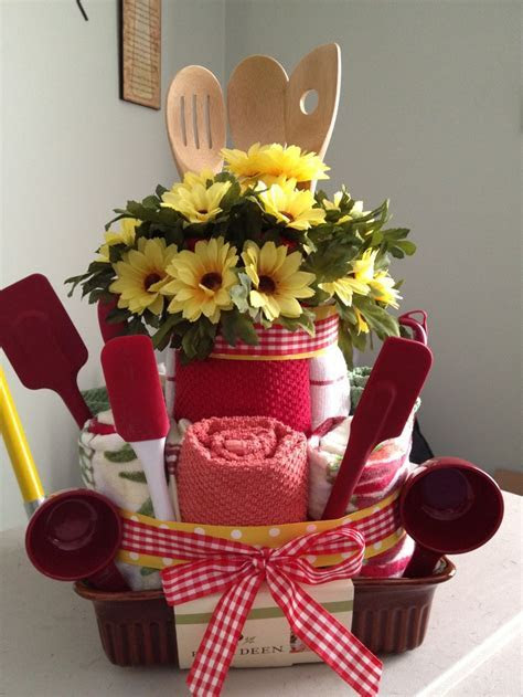 Kitchen towel cake for bridal shower   gifts   Pinterest
