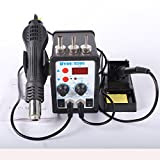 YOUYUE 8586 700W ESD Soldering Station LED Digital Solder Iron Desoldering Station BGA Rework Solder Station Hot Air Gun Welder