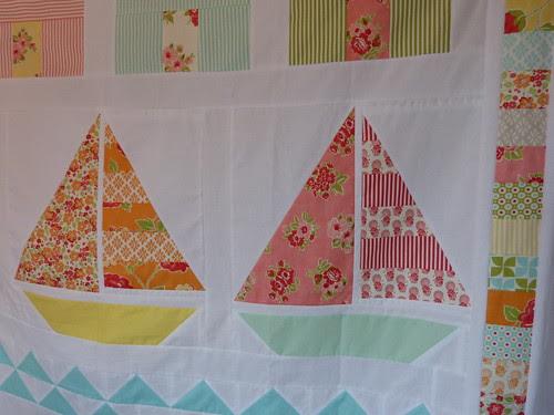 Summer beach quilt