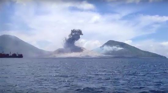 Erupção vulcânica em Papua Nova Guiné