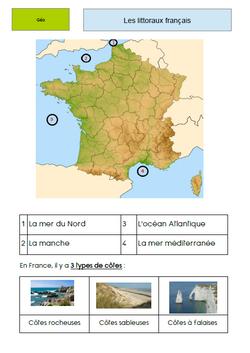Trace écrite : Les littoraux français