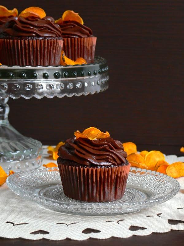 Chocolate Sweet Potato Cupcakes 2