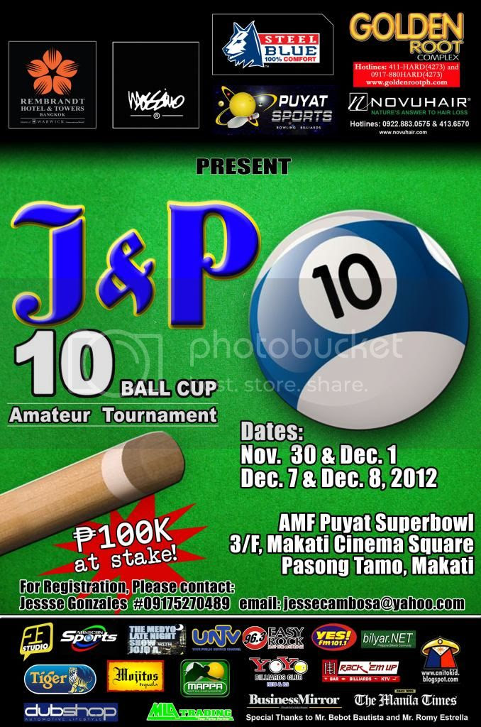 J&P 10-Ball Cup Billiards Event