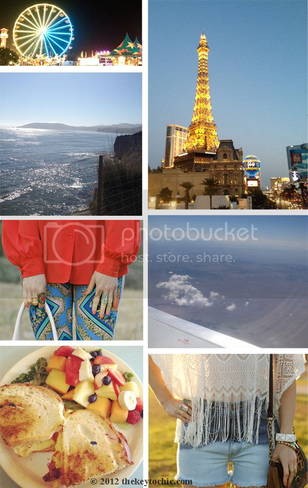 Paris Las Vegas, the strip las vegas, ocean view, airplane view, Topshop Baroque jeans, breakfast sandwich, fringe lace top, bleach DIY ombre jeans
