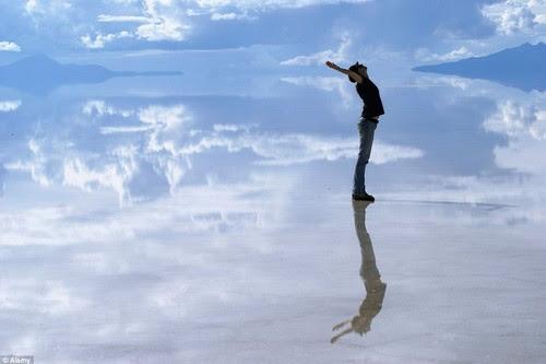 Reflective Salt Flats in Bolivi