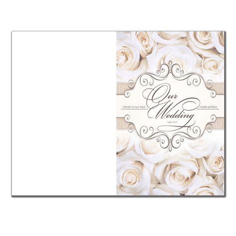 Blank Wedding Program 6361   Pack of 100   Wedding