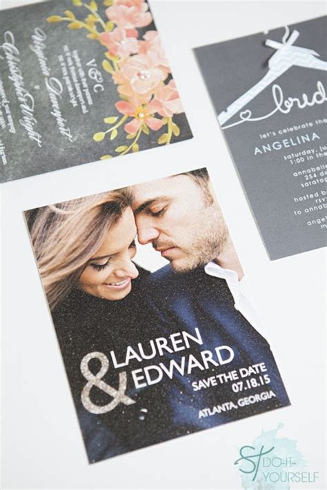 """How To Embellish """"Store Bought"""" Wedding Invitations!   DIY"""