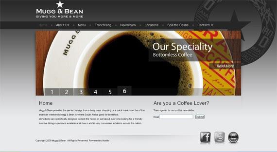 mugg bean coffee website 30 Sitios web sobre café para inspirarte
