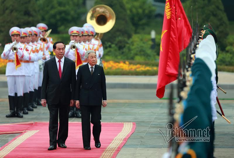 Nhà vua Nhật Bản, Nhà vua Nhật Bản thăm Việt Nam, Nhật hoàng. Chủ tịch nước Trần Đại Quang