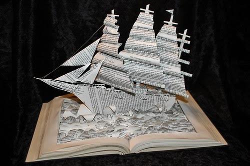 The Wishbone Ketch book sculpture