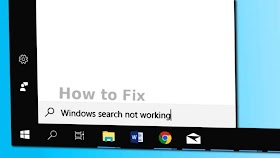Search Bar Not Working in Windows 10 (100% Solved)