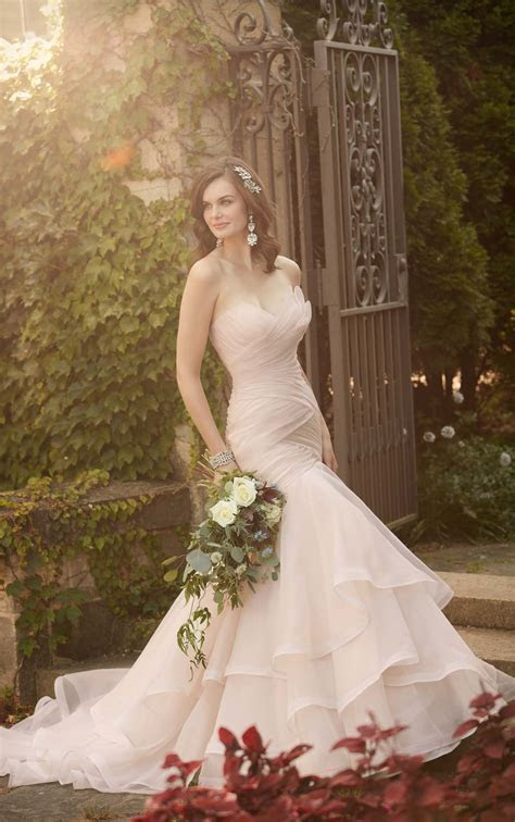 Pleated Wedding Dress   Essense of Australia