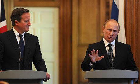 David Cameron et Vladimir Poutine