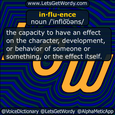 influence 01/08/2017 GFX Definition