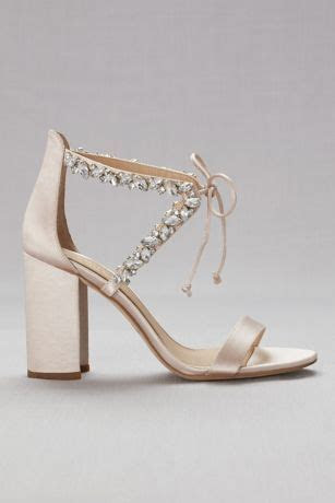 Crystal Embellished Ankle Tie Block Heel Sandals   David's