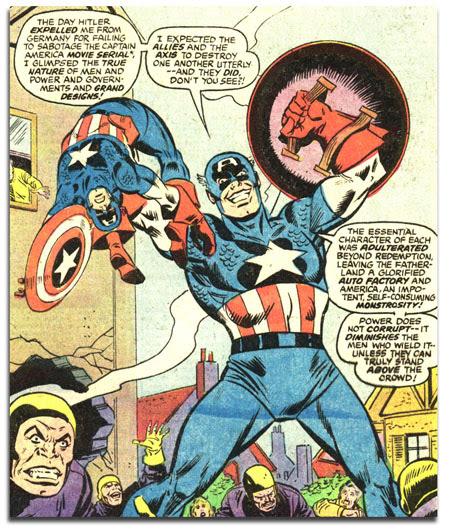 Captain America #221 - Ameridroid beats up Cap!