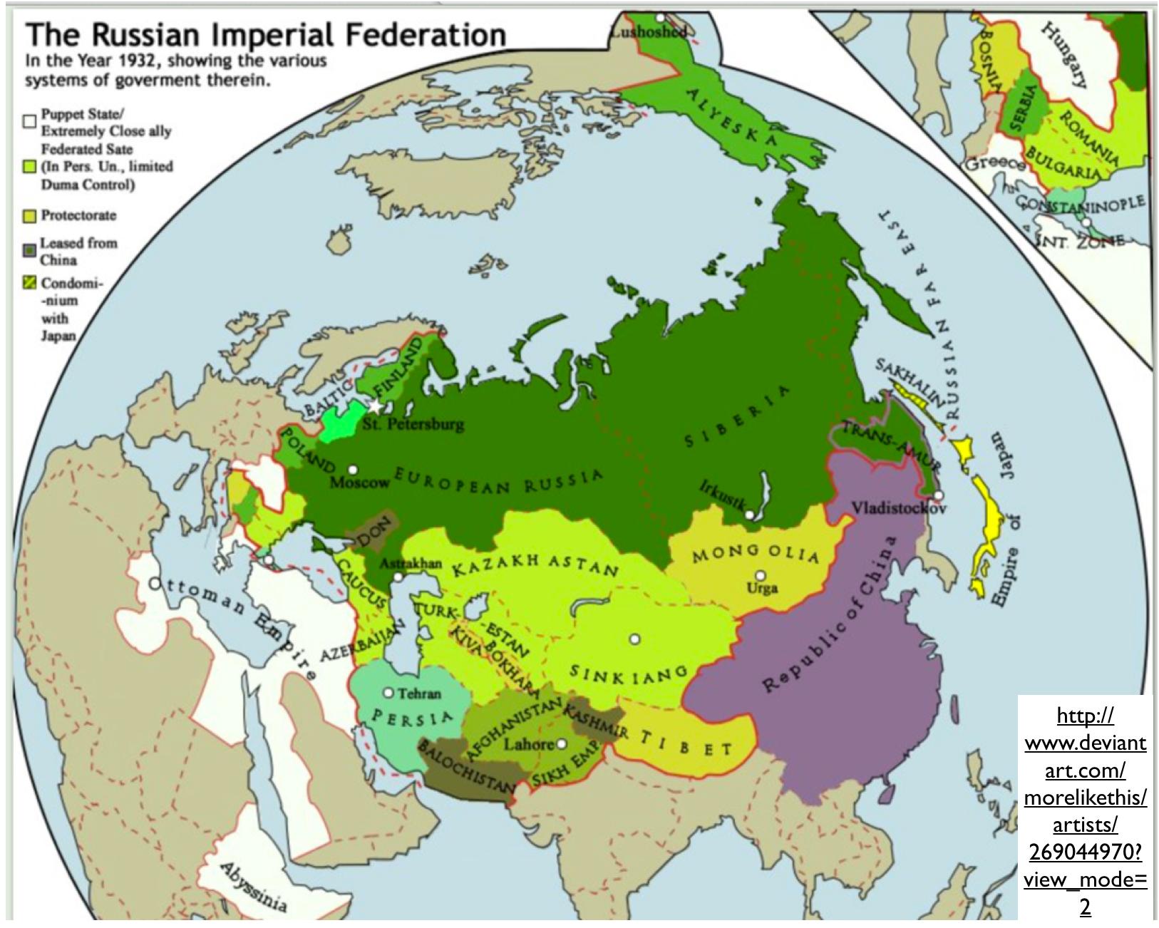 LoveLuxleBlog: Russia Federation Map