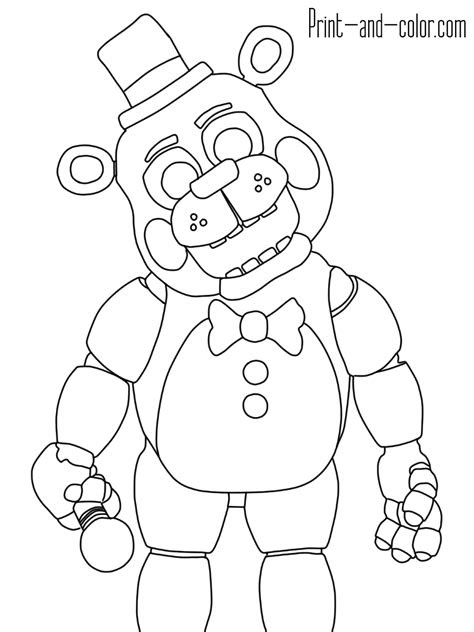 nights  freddys coloring pages print  colorcom