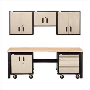 Tan Garage Kit | Mojave Garage Set | Tan Garage Cabinet Set
