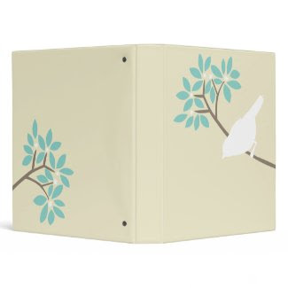 White Bird Custom Binder binder