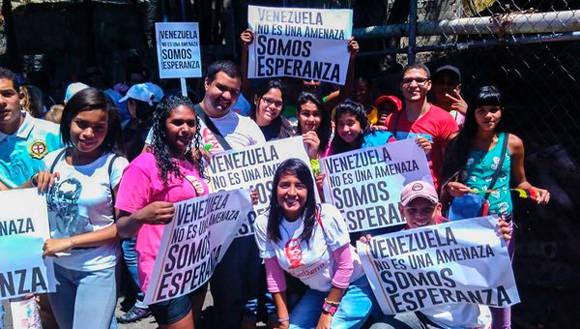 Los venezolanos defienden su soberanía ante la nueva embestida imperial. Foto: @Mayesocialista