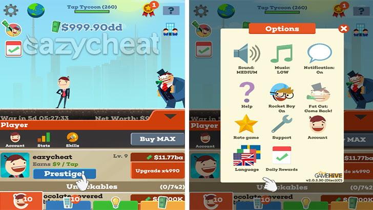 Tap Tycoon v2.0.3 Cheats