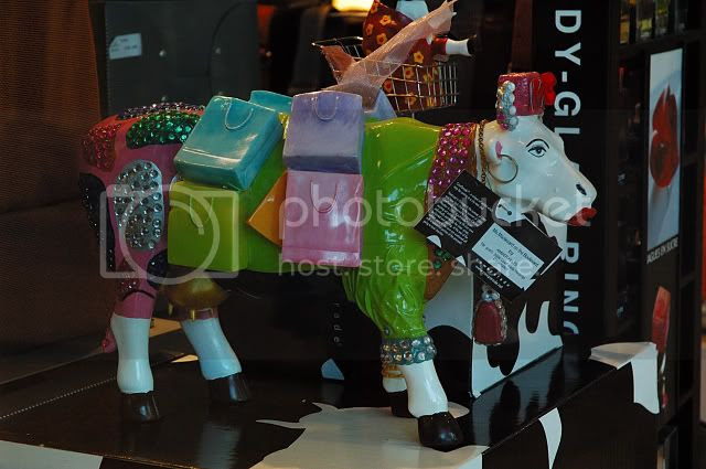 CowParade on Sale at Illa Diagonal Barcelona