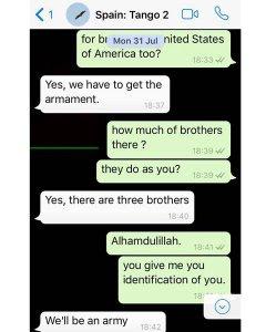 Sexta captura de la conversación entre espías y Younes Abouyaaqoub.